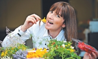 Extraordinary edibles: Margy Abbot from AMJ Produce with edible flowers